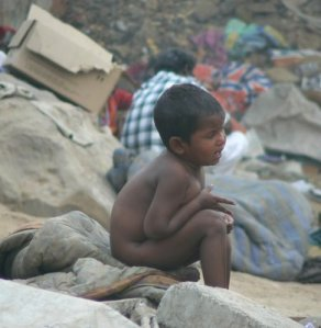 The slums of Delhi