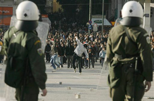 Riots have become common occurrences in many countries as the financial meltdown continues. The U.S. military is preparing to quell civil unrest at home. (AP)